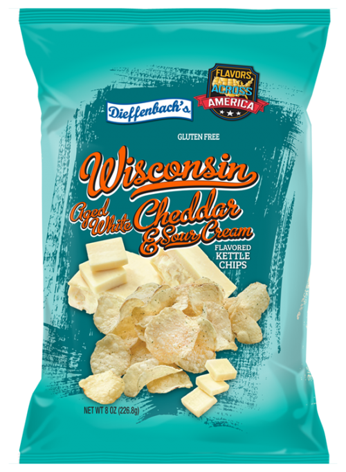 Dieffenbach's® Wisconsin Aged White Cheddar & Sour Cream Kettle Chips