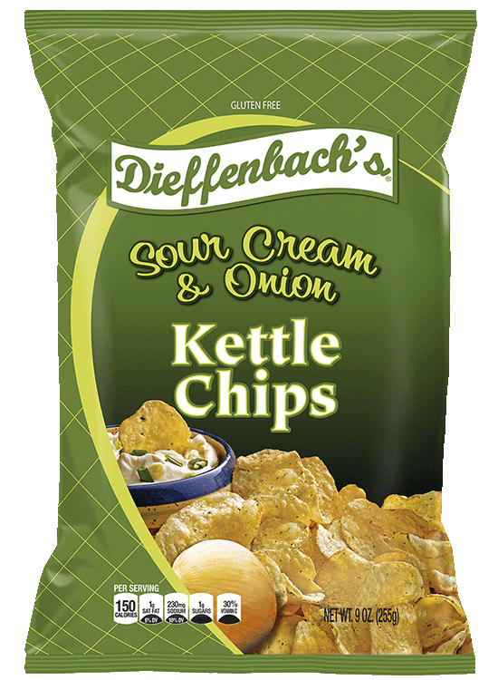 Dieffenbach's® Sour Cream & Onion Kettle Chips