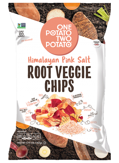 One Potato Two Potato® Himalayan Pink Salt Root Veggie Chips